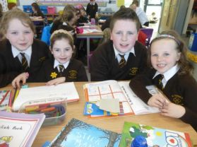 P3 Work with their P7 Buddies.