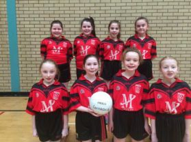 Girls Compete in Indoor Gaelic Tournament
